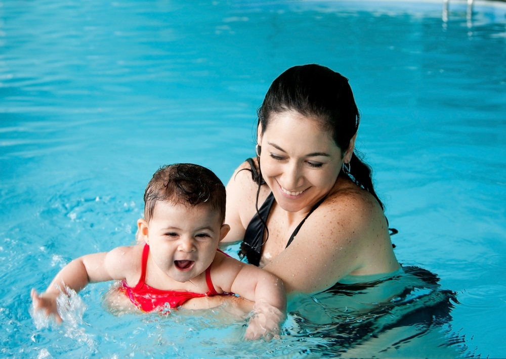Younger children should never be allowed to swim before successfully completing age-appropriate swimming lessons.  ©BigStockPhoto