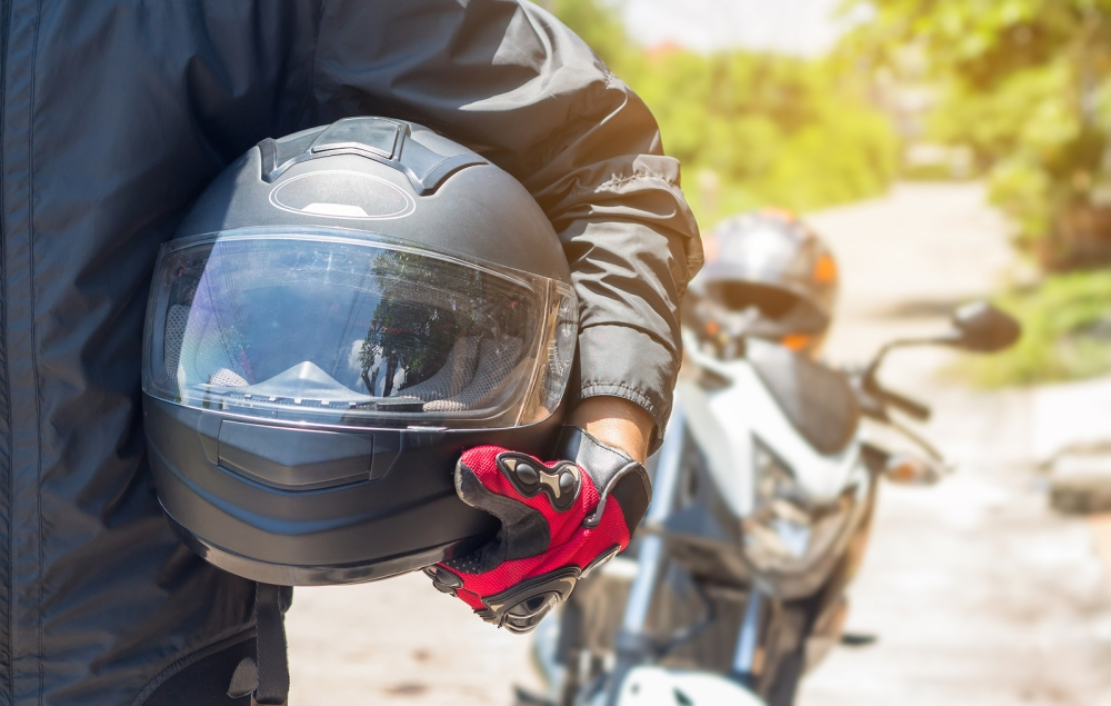 Don't ride without a helmet and other proper gear.  ©BigStockPhoto