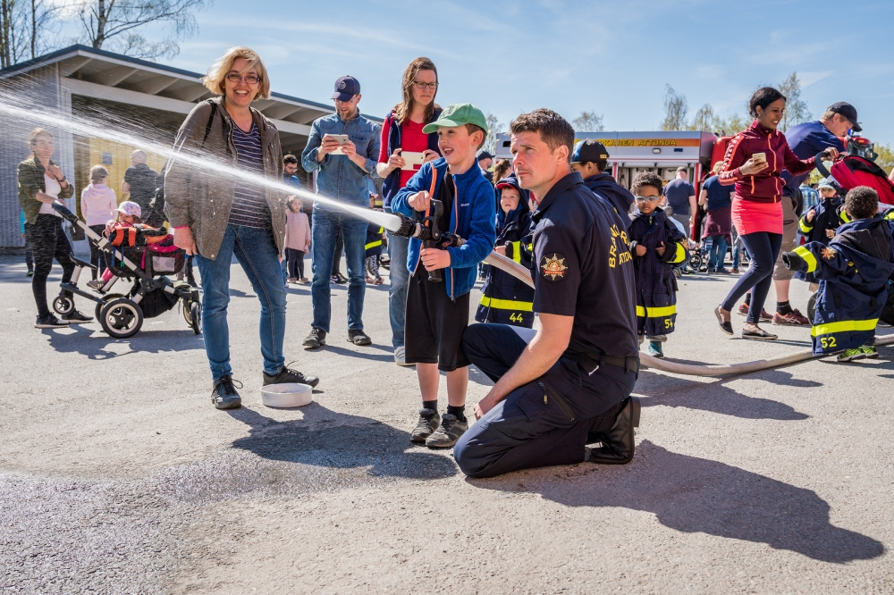 Parents should take the time to teach children the specifics of fire safety and schools should be educating students by employing fire safety courses in conjunction with local fire stations in the classroom. © BigStockPhoto